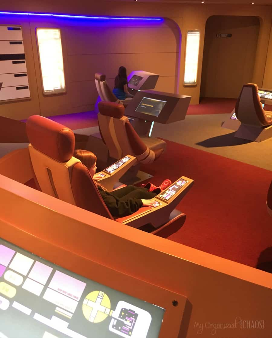 Star trek Starfleet Academy Experience exhibit at Telus Spark Calgary