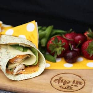 Roasted Red Pepper Turkey Wraps