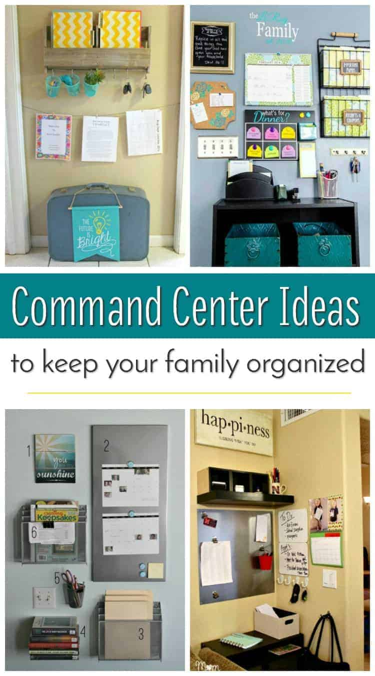 Family Command Centre Ideas to Keep you Organized