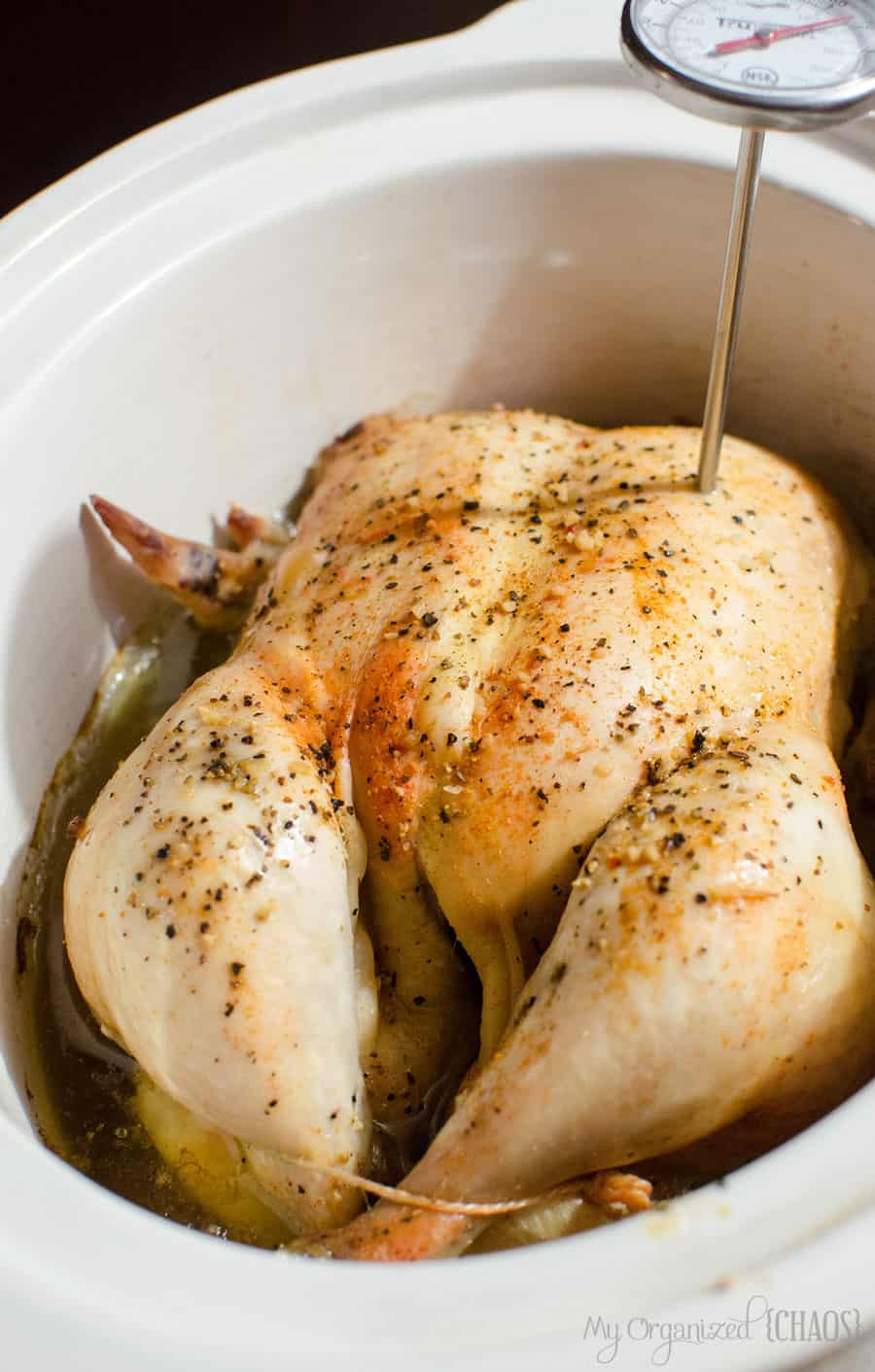 How to make crockpot whole chicken in the slow cooker