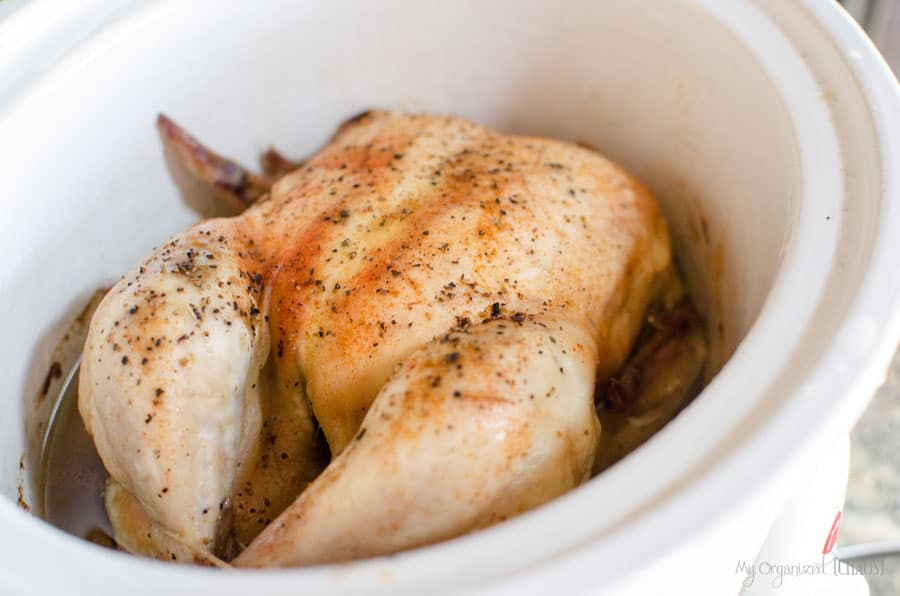 how to cook a whole chicken in the slow cooker