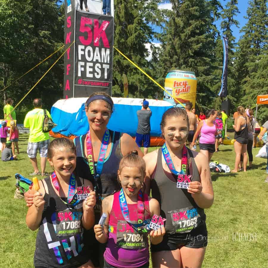 We Did the 5K Foam Fest Funcore Run – and Loved it!