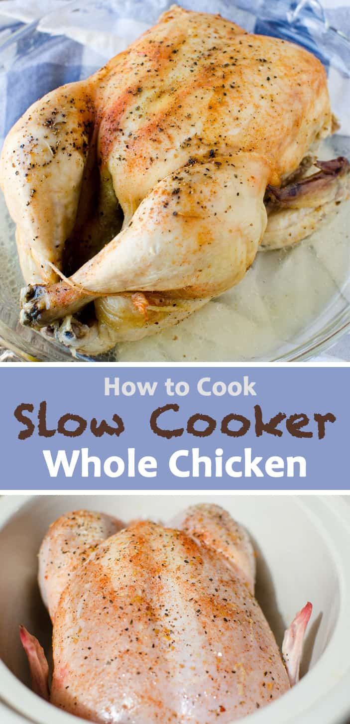 instructions to make whole chicken in the slow cooker