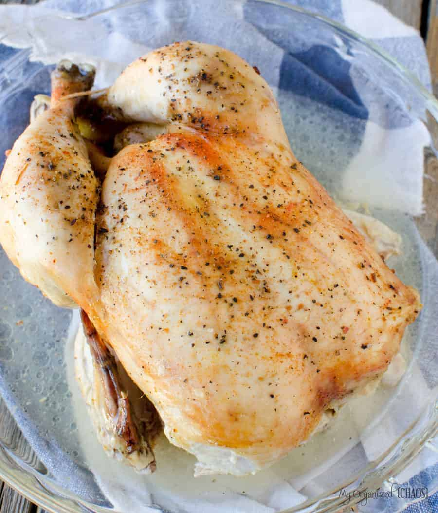 whole chicken slow cooker instructions. How to wash, dry, season and cook safely