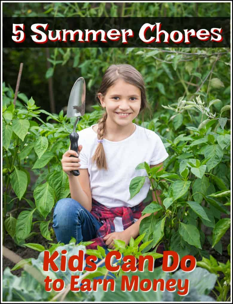 5 Summer Chores Kids Can Do to Earn Money