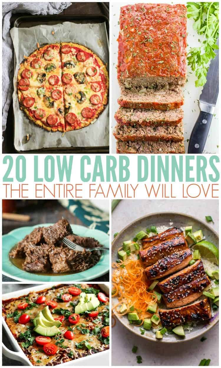 20 Low-Carb Dinners the Whole Family will Love