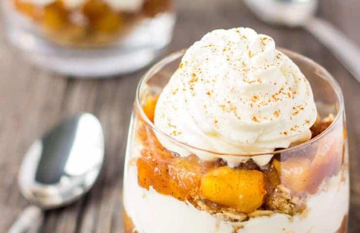 No-Bake Apple Pie Parfaits