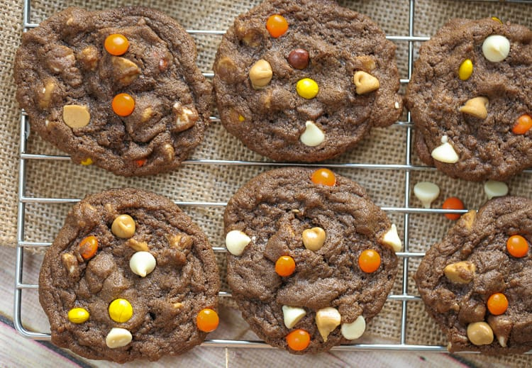 Chocolate Reese's Pieces Cookies