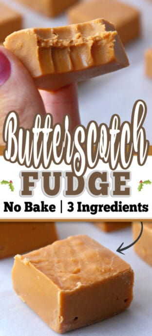 butterscotch fudge with text