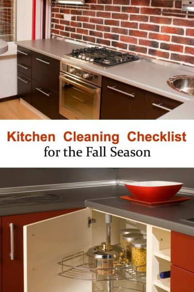 Kitchen Cleaning Checklist for the Fall Season