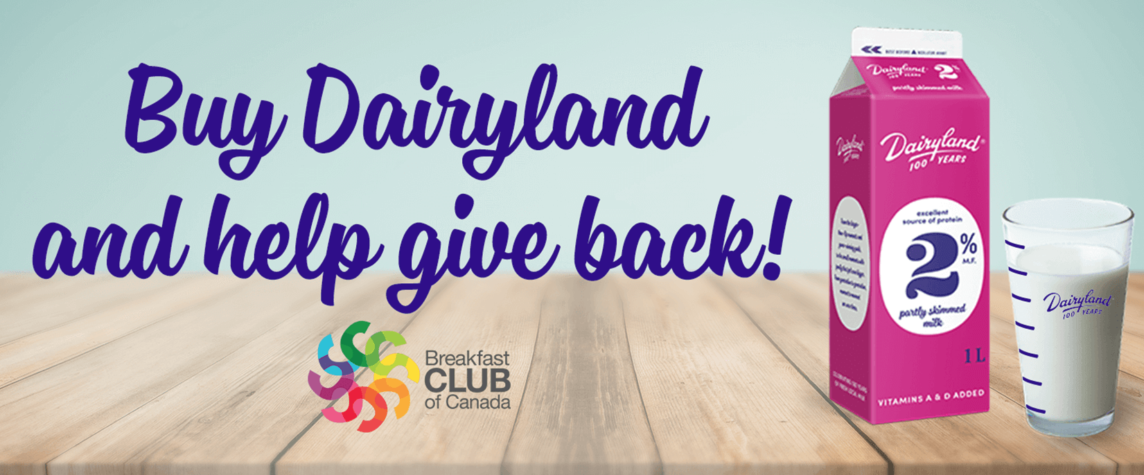 Buy Dairyland and Help Give Back
