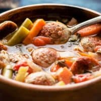 TUSCAN BARLEY SOUP WITH TURKEY SAUSAGES