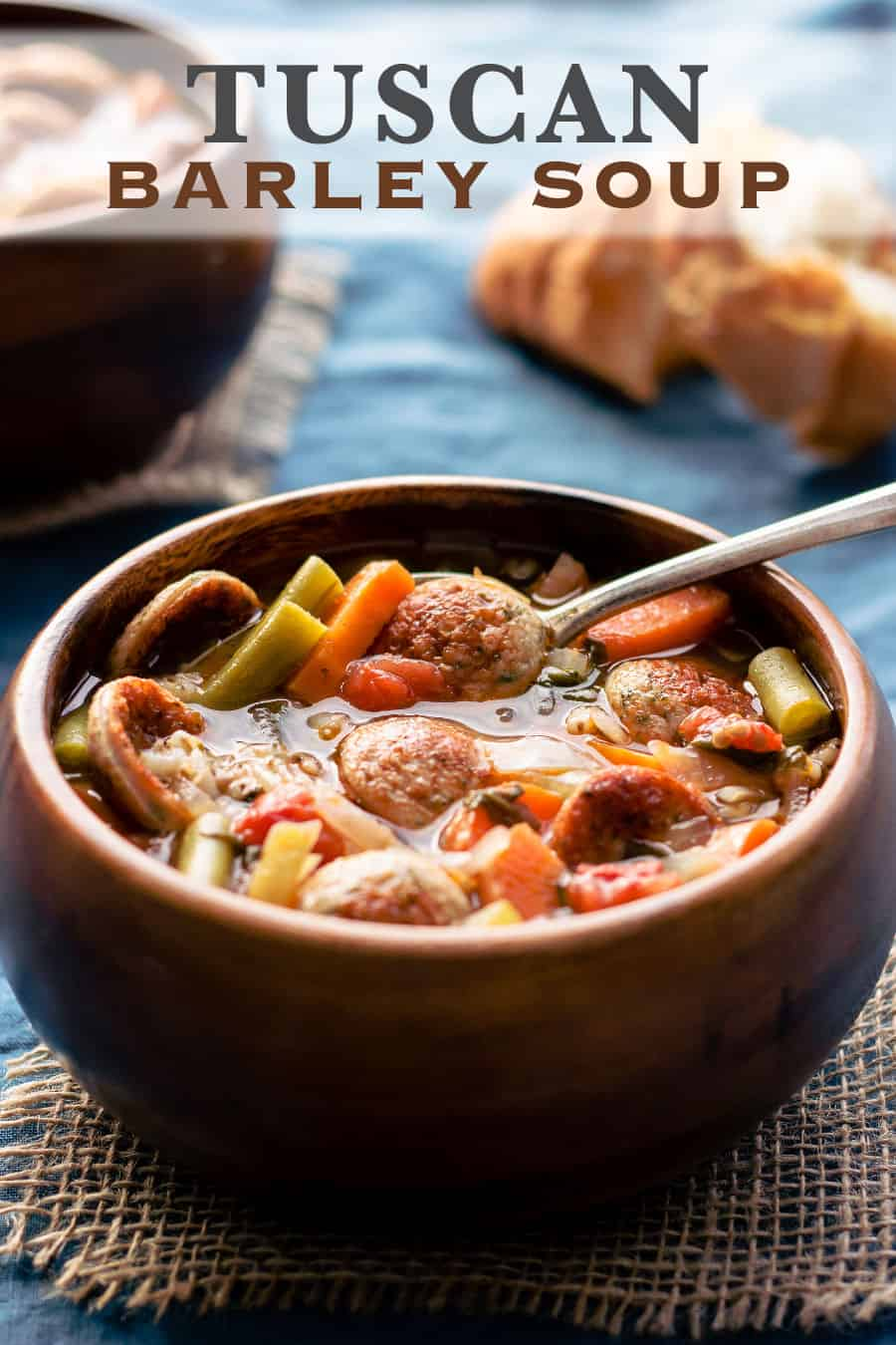 Delicious and healthy Tuscan Barley Soup