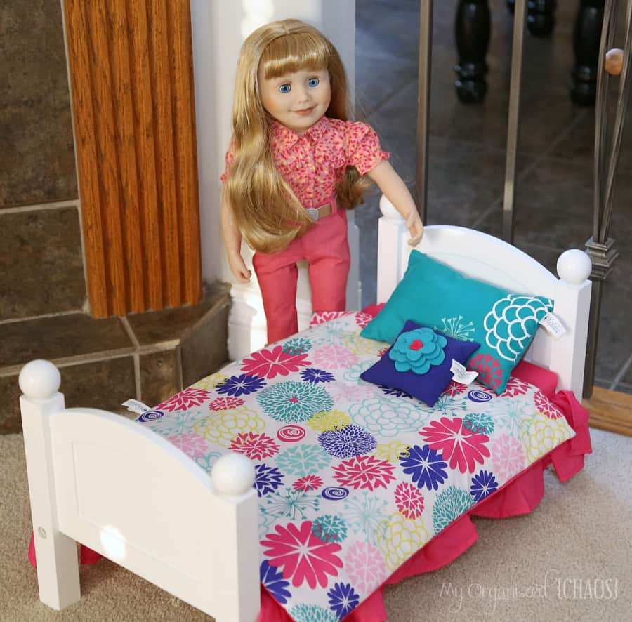 maplelea doll bed Field of Flowers Bedding