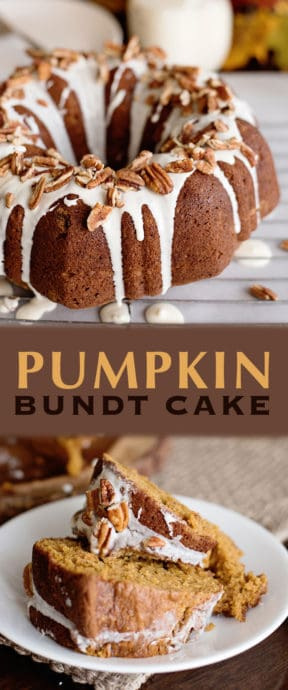 Each bite of this Pumpkin Bundt Cake will remind you of your favourite seasonal drink. Yet instead, you'll be comfy at home, having a slice of this dessert.