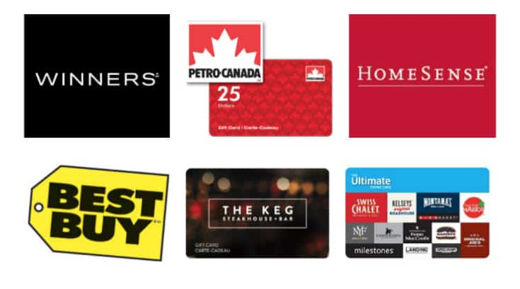 RBC Rewards Gift Cards