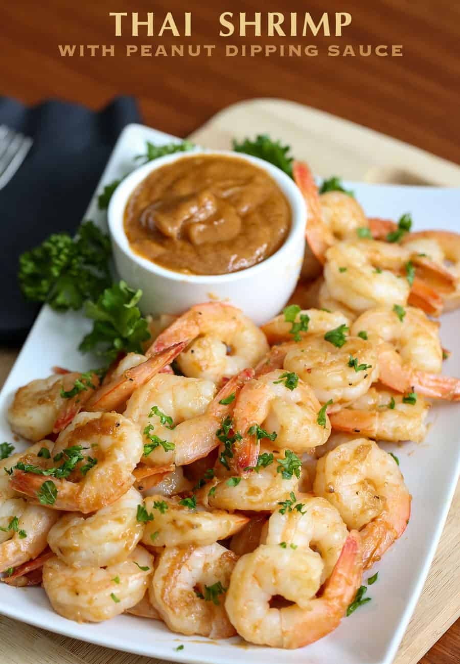 Thai Shrimp With Peanut Dipping Sauce Recipe A Few Simple Ingredients Makes This And