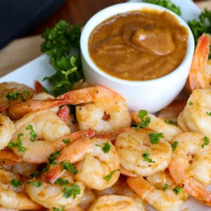 Thai Shrimp with Peanut Dipping Sauce