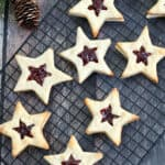 You can be the star of the holiday party or baking exchange with these Star-Shaped Jam Cookies. They are so festive, fun and elegant to make as a holiday treat.