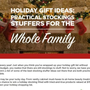 Practical Stockings Stuffers for the Whole Family