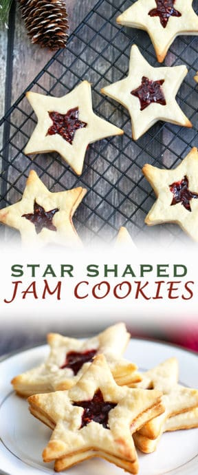 You can be thestar of the holiday party or baking exchange with these Star-Shaped Jam Cookies. They are so festive, fun and elegant to make as a holiday treat.