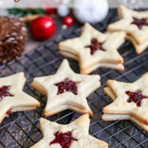 Star-Shaped Jam Cookies