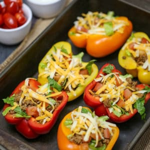 Bell Pepper Stuffed Tacos