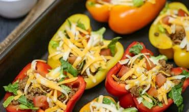 Bell Pepper Stuffed Tacos