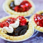 Chocolate Raspberry Tarts are as simple and easy recipe that is full-bodied in flavour. This quick tart dessert combines the creaminess of chocolate with the tang of a raspberry sauce.