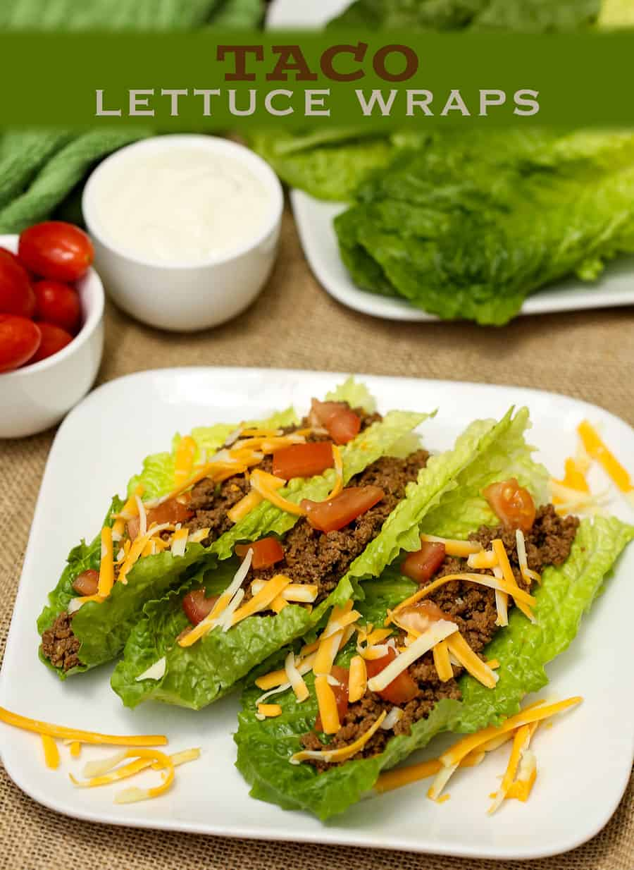Taco lettuce wraps for Healthy and delicious dinner recipes