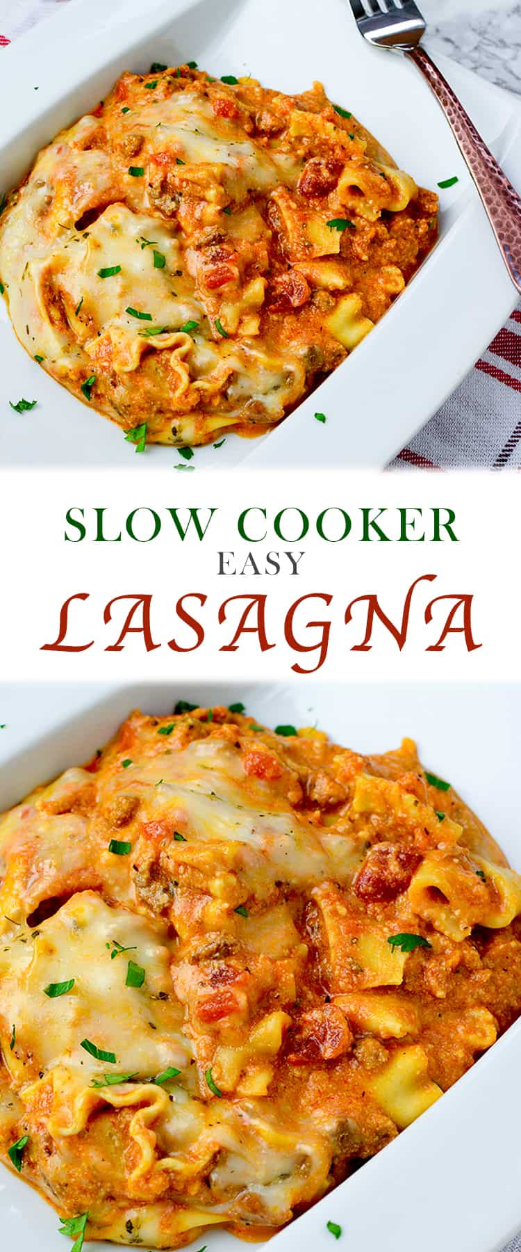 Making a homemade comfort food that the whole family loves just got easier with this Slow Cooker Easy Lasagna! This Italian dish often served on special occasions can now be enjoyed on any day thanks to delicious and traditional lasagna ingredients cooked in thecrockpot.
