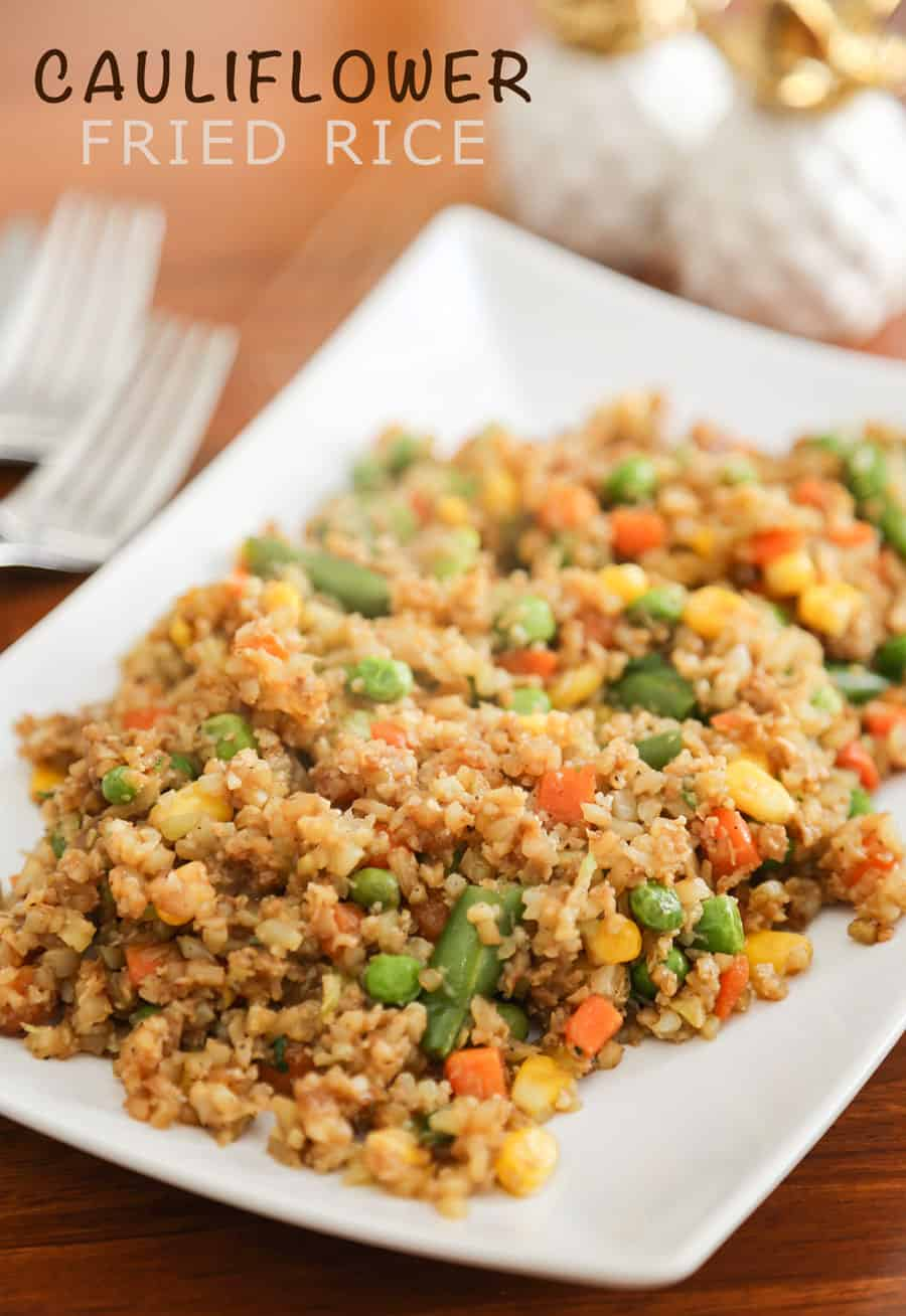 If you love Chinese fried rice, but don't enjoy the carb count that comes with it, you'll love this easy Cauliflower Fried Rice recipe. It takes few ingredients, can be ready in 15-20 minutes and is loaded with vegetables.