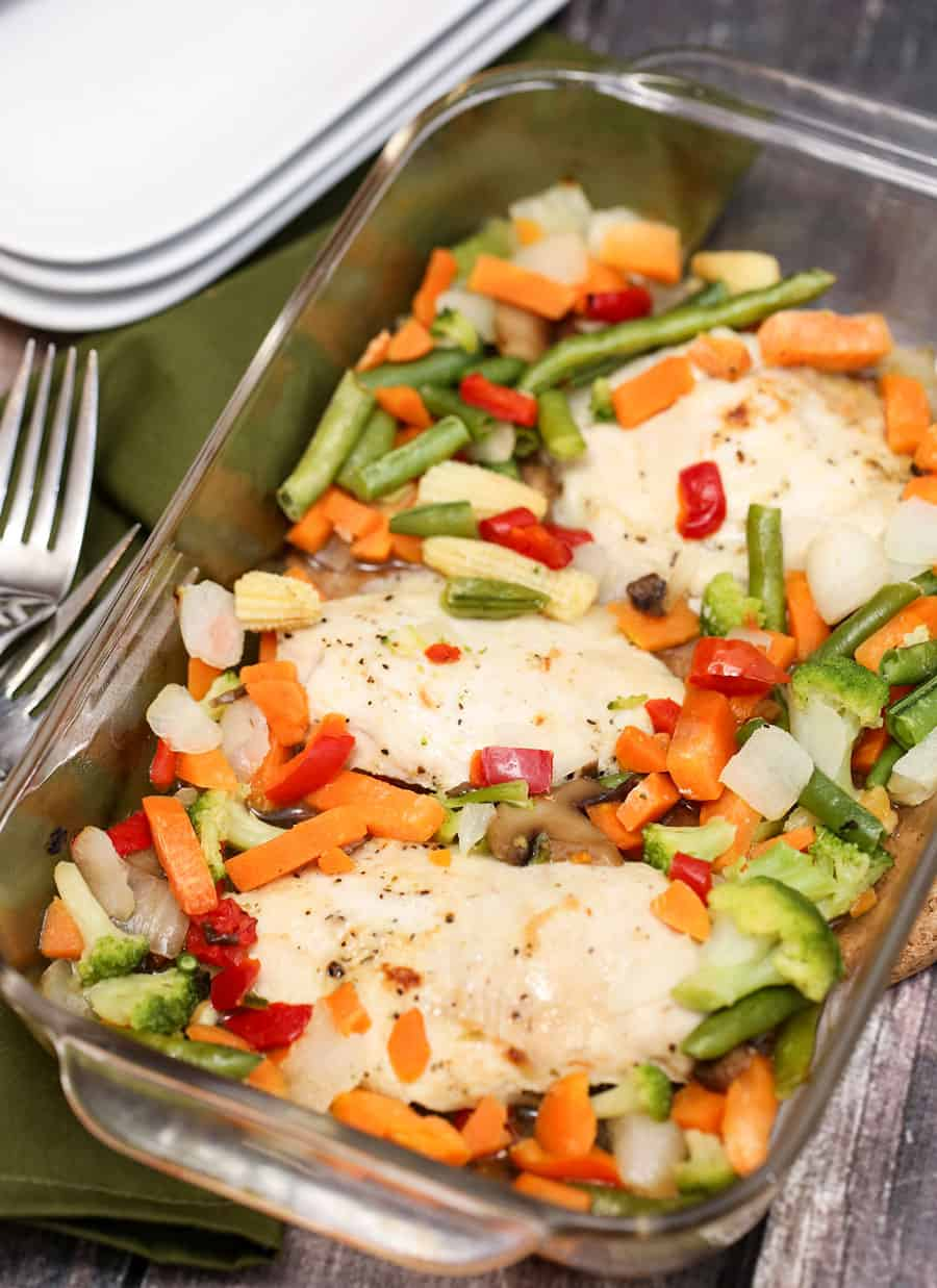 One Pan Maple Mustard Chicken and Vegetables
