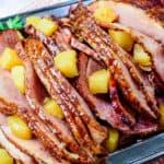 Slow Cooker Brown Sugar Pineapple Ham
