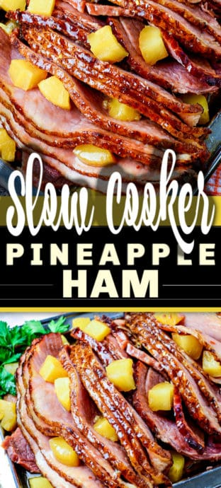 plated slow cooker ham