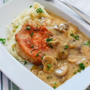 Instant Pot Pork Chops with Mushroom Gravy