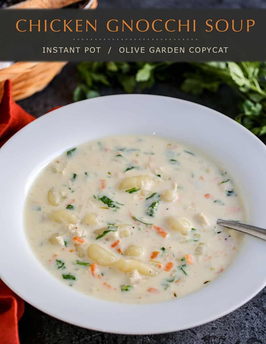 Olive Garden Instant Pot Chicken Gnocchi Soup recipe