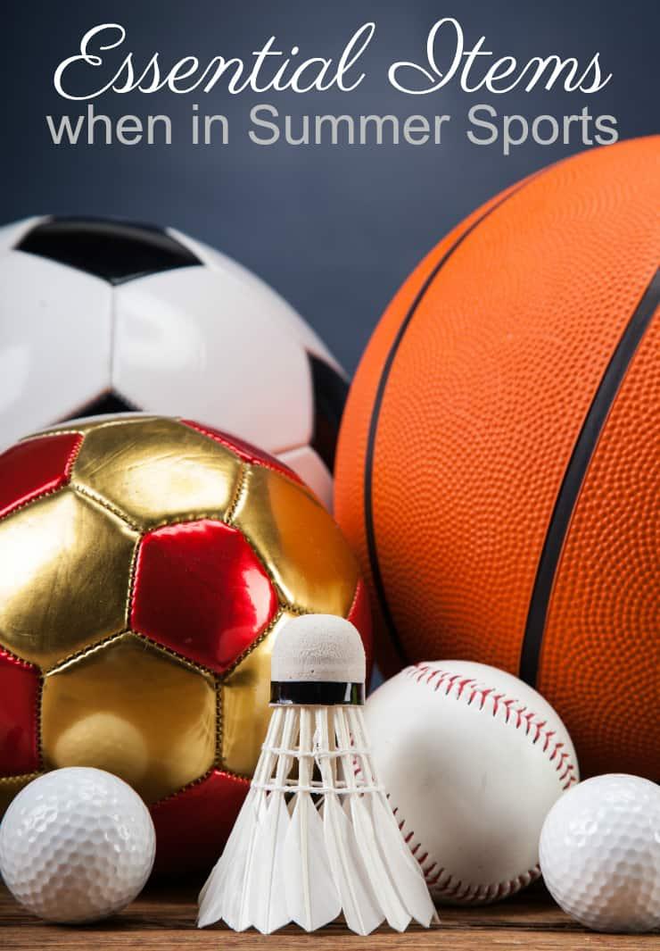 summer sports essential items