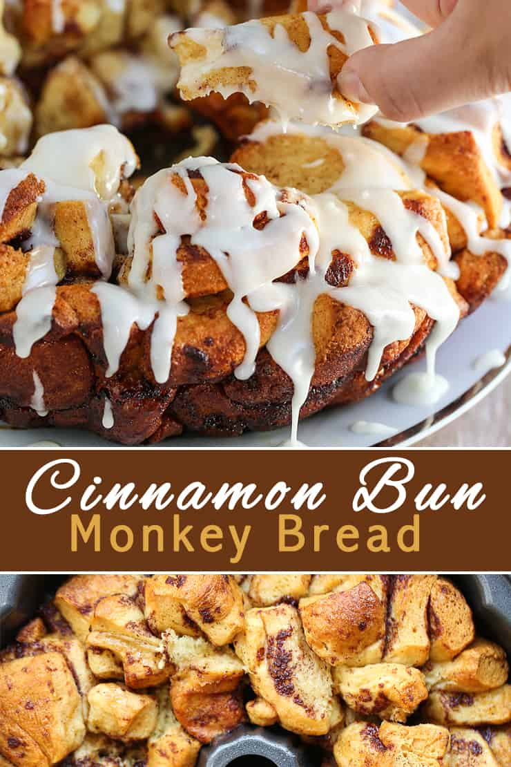 Cinnamon Bun Monkey Bread is a mountain of miniature cinnamon buns. Pull-apart pieces of dessert bundles that is so very simple to make.