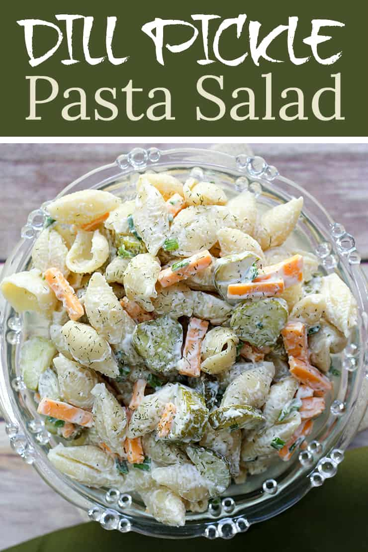 Calling all dill pickle lovers, this salad recipe is for you! This creamy Dill Pickle Pasta Salad has the tangy flavour of crunchy pickles, fresh dill, cheese, mayo and sour cream. It's the perfect Dill Pickle Pasta Salad is the perfect side for any BBQ or summer meal.