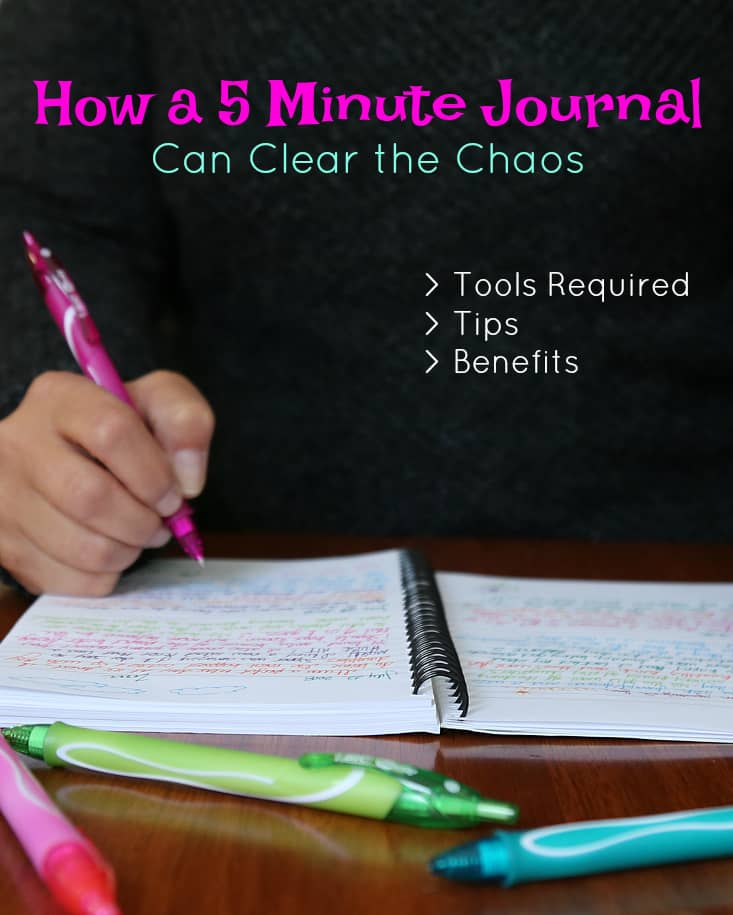 How a 5 Minute Journal Can Clear the Chaos