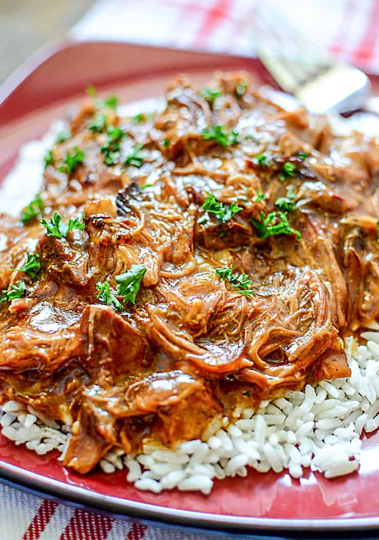 Slow Cooker Cherry Coke BBQ Pulled Pork