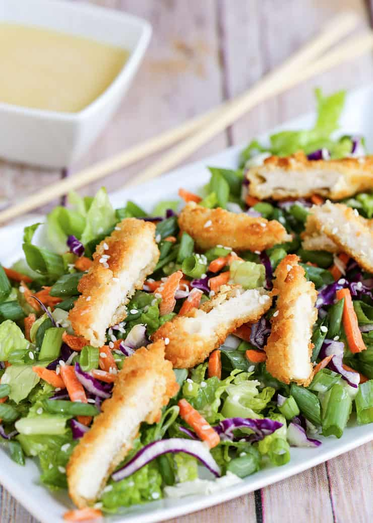 This Oriental Chicken Salad is an Applebee's copycat recipe.A tasty salad with a homemade asian inspired dressing - so fresh, delicious and good for you!