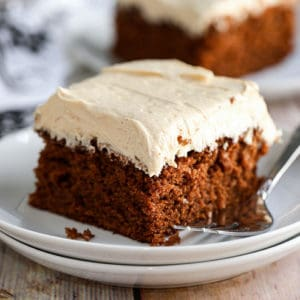 Chocolate Fudge Cake with Peanut Butter Frosting