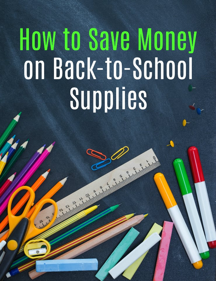 how to save money school supplies