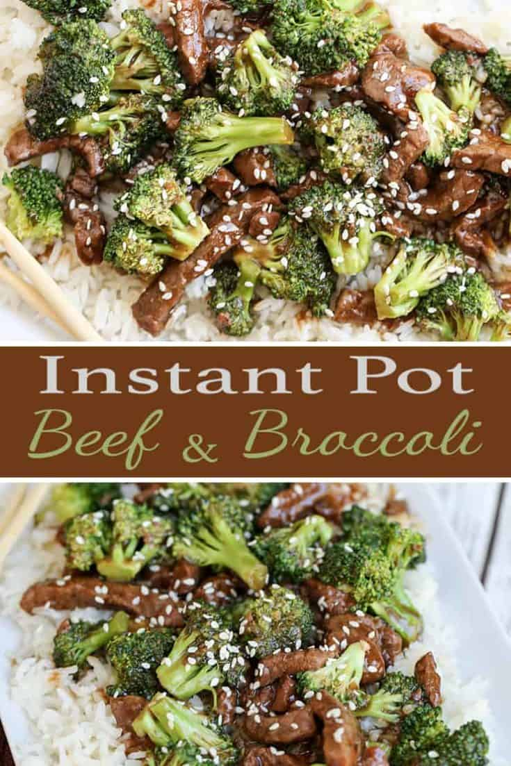 Skip the Chinese takeout and make this easy Instant Pot Beef and Broccoli at home. A perfect quick stir-fry, cooks in 15 minutes using a pressure cooker. #instantpot #beefandbroccoli #asian