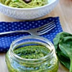 Simple 5 Minute Spinach Cashew Pesto