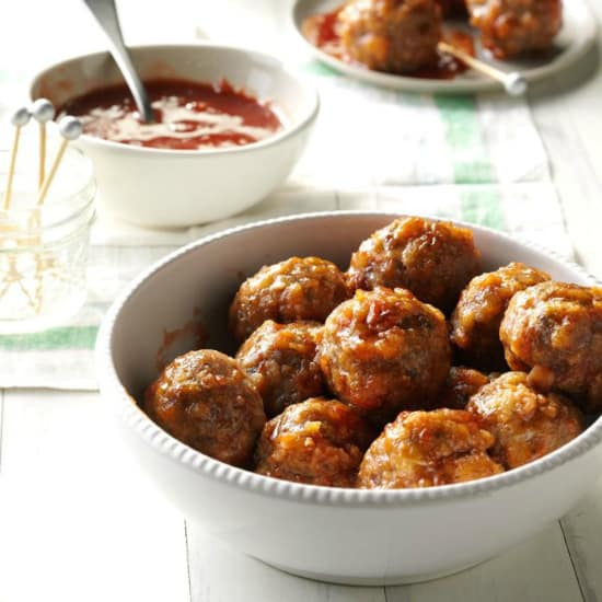 Stuffing Meatballs