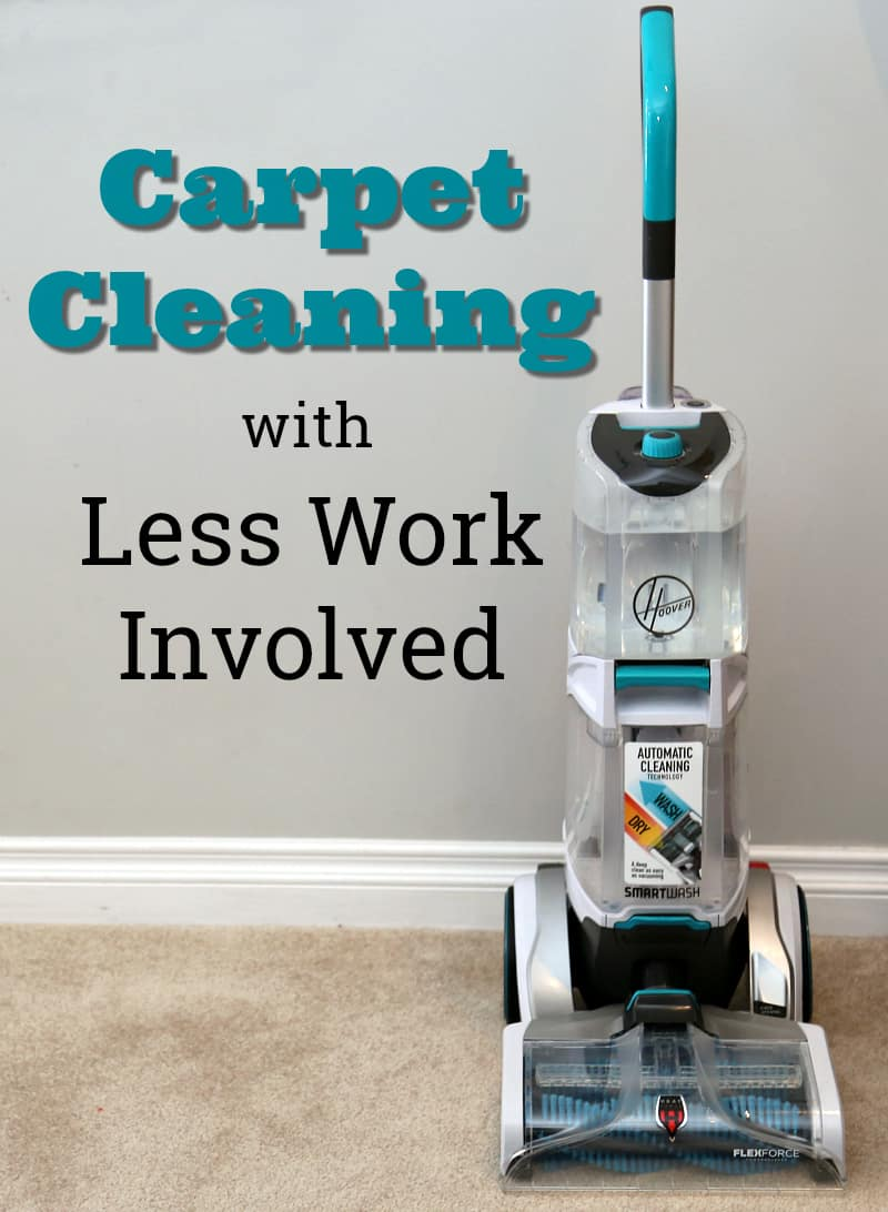 Carpet Cleaning with Less Work Involved