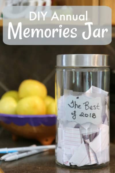 DIY Annual Memories Jar